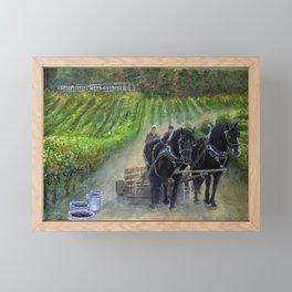 Harvest in the Vineyard Framed Mini Art Print