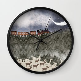 over the hills and far away Wall Clock