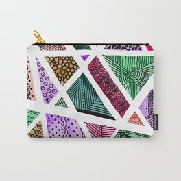 Geometric doodle pattern - multicolor Carry-All Pouch