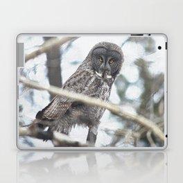 Let Us Prey - Great Grey Owl & Mouse Laptop & iPad Skin