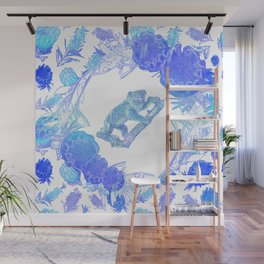 Australian Native Floral Print with Koala Wall Mural