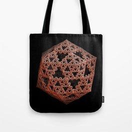 3D Fractal Icosahedron Tote Bag