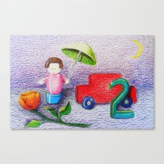 Crayon Love Toys I've Stepped On Canvas Print