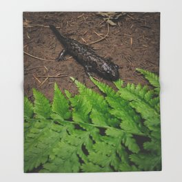 Salamander Throw Blanket
