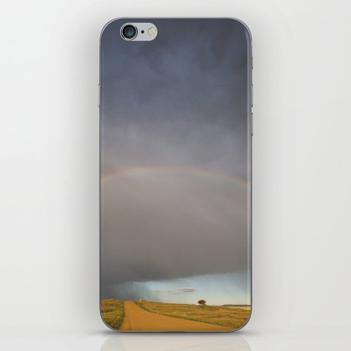 Rainbow after the Storm - Badlands National Park iPhone Skin
