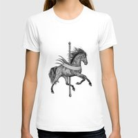carousel T-shirts featuring Carousel by Rescue & Ramona
