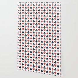 Spade, diamond, heart,club pattern Wallpaper