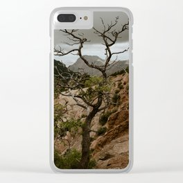 Colorful Mountaintop View with Withered Tree - Big Bend Clear iPhone Case