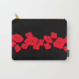 Red Poppies at Night Carry-All Pouch