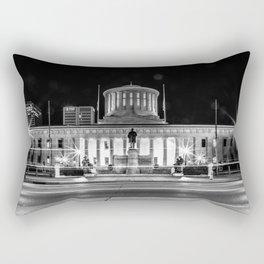 Columbus State House Long Exposure Rectangular Pillow