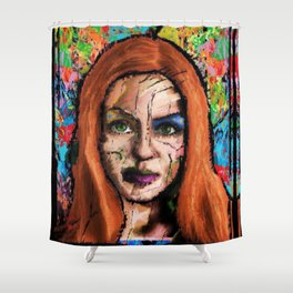 The Queen of all Tomorrow's Shower Curtain