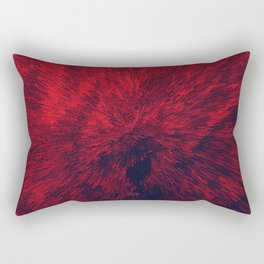 Bold Burst in Brilliant Red Rectangular Pillow