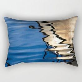 Blue white abstract Rectangular Pillow