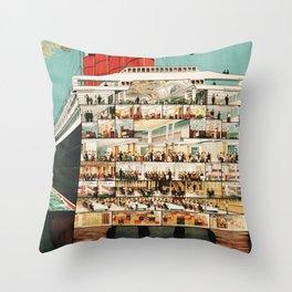 Cunard Line Throw Pillow