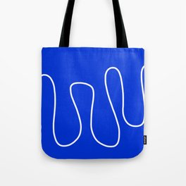 Blue Abstract Wave Tote Bag
