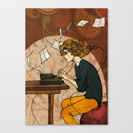 Wired to Write Canvas Print