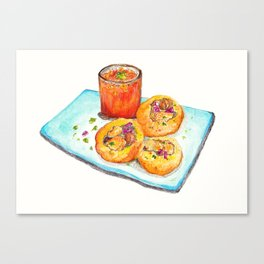 Gol Gappa (Indian Street Food series) Canvas Print