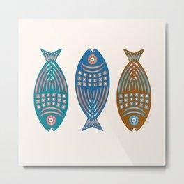 3 Fish | Multi Metal Print