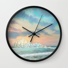 Frozen waves Wall Clock