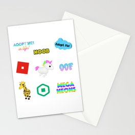 Roblox Adopt Me Stationery Cards