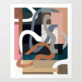 Curves and Layers Art Print