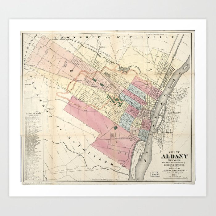 Vintage Map of Albany NY (1874) Art Print by vuramedia on map of crabtree, map of foxborough, map of hubbard, map of marylhurst university, map of south west western australia, map of glen echo, map of oregon, map of crandall, map of girard, map of spencerport, map of browns island, map of buffalo, map of brookings, map of new york state, map of crane, map of otto, map of dormansville, map of woodbourne, map of new york city, map of georgia,