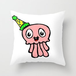 Squiddy Throw Pillow