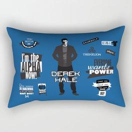 Derek Hale Quotes Teen Wolf Rectangular Pillow