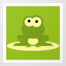 Minimal Frog Green Art Print