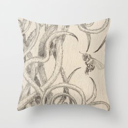 Bee and Vine Throw Pillow