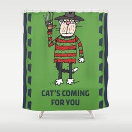 Cat Freddy Shower Curtain