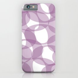 Lilac Hoops iPhone Case