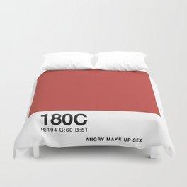 PANTONE COLOR PARODY COLOR- Angry makeup sex Duvet Cover