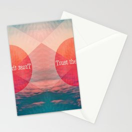 _TRUST THE PROCESS Stationery Cards
