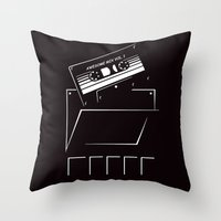 starlord Throw Pillows featuring Gardians of the galaxy ( awesome mix vol.1) by MISTER BLACKWHITE