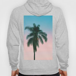 Pastel Sky Palm Tree - Los Angeles, California Hoody