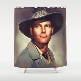 Leif Erickson, Vintage Actor Shower Curtain
