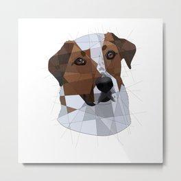Dog Geometry Metal Print