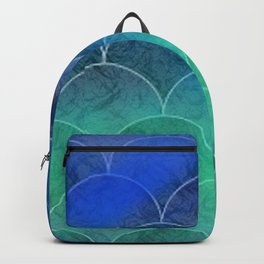 Abstract Mermaid Scales Backpack