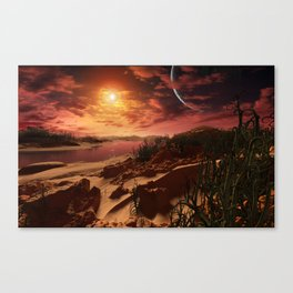 Kepler 186f b Canvas Print