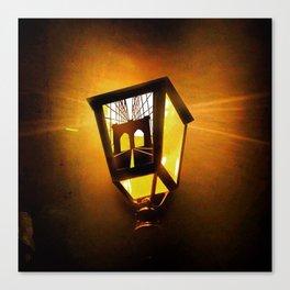Brooklyn Bridge Lantern Canvas Print