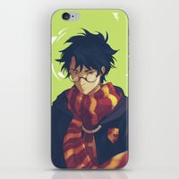 viria iPhone & iPod Skins featuring the boy who lived by viria