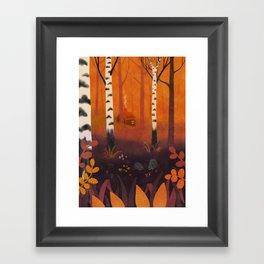 Hedgehog Forest Framed Art Print