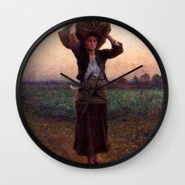jules Breton - Sheperd's Star Wall Clock