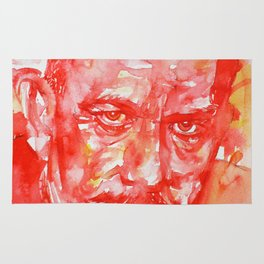 JOHN STEINBECK - watercolor portrait Rug