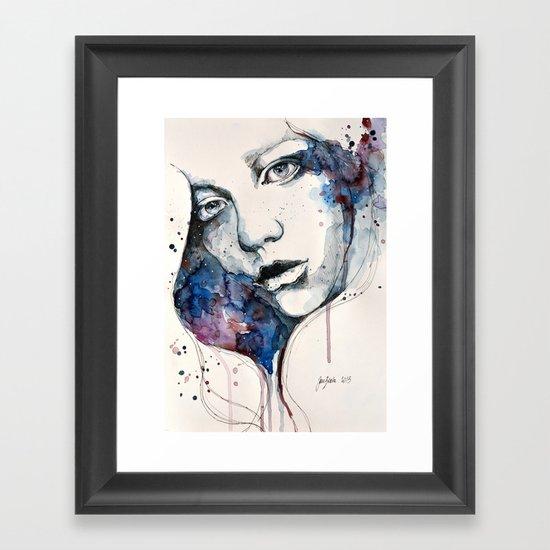 Window, watercolor & ink painting Framed Art Print