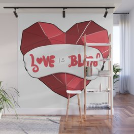 Love Is Blind Wall Mural