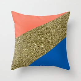 Complementary Glitter Sectors Throw Pillow