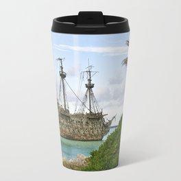 Pirate ship in the Caribbean Travel Mug