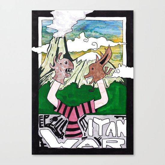 Titan War Canvas Print
